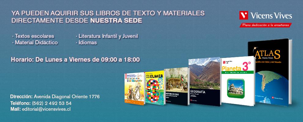 Adquisición libros desde Sede Vicens Vives Chile